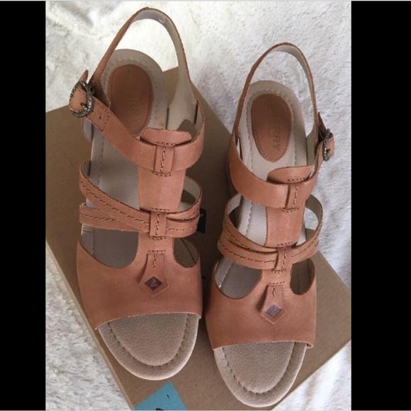 ff688ec509e Sperry Dawn Day Tan Wedge Sandals NWT